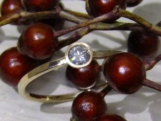 gray diamond(蛍光)*K10 ringの画像