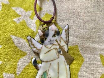 クリスマス オーナメント 猫 エンジェルの画像