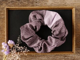 幸せ髪飾り きものシュシュ プレミアム<花柄・絹>の画像