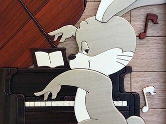 ウサギ君 ピアノを弾くの画像