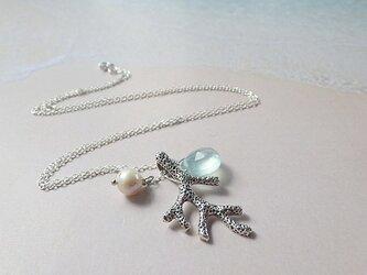 *sv925*Coral Branch Ocean Necklace 銀のコーラルリーフモチーフネックレスの画像