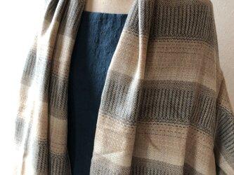 ウール 袖付きロングケープの画像