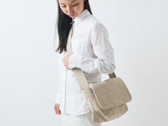 【受注生産】リネン帆布のショルダーバッグの画像