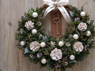 クリスマスリース(0618)~Santa's Magic Key(R)~ 33x35cmの画像