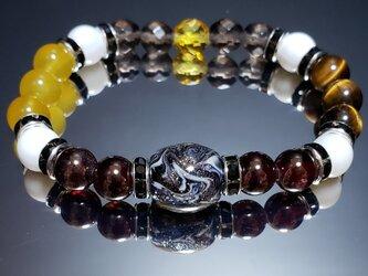 トンボ玉&天然石ブレスレット~BP0055~の画像