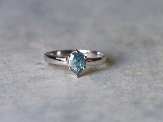 blue diamond・K14WG*指輪*13号の画像