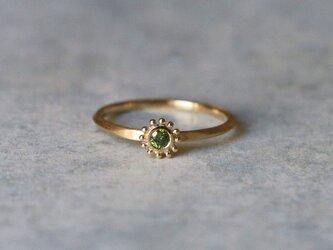 Green diamond K14YG *指輪 12号の画像