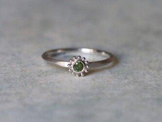 Green diamond K14WG*指輪 11号の画像