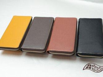 バッファローラウンド長財布【ブラック】の画像