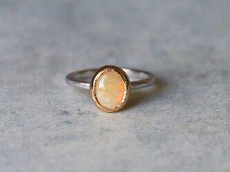 オーストラリアン・オパール*指輪 10号*K14WGの画像