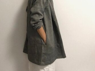 shawl-cardigan/herringbone-linenの画像
