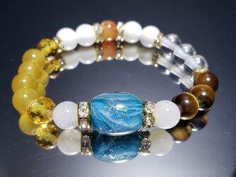 トンボ玉&天然石ブレスレット~BP0062~の画像