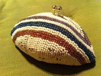 ビーズ編み がま口 【ビードロ】の画像