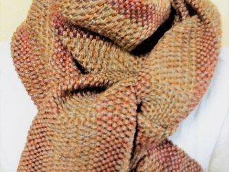 手織り ロングマフラーの画像
