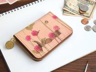 ラウンドファスナー コンパクト財布(ノスタルジック ゴンフレナ)牛革  メンズ レディース ILL-1145の画像