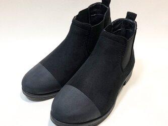 [Lサイズのみ] ポインテッドサイドゴアブーツ ( ブラック×マットブラック )の画像