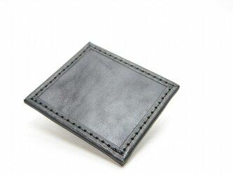 1枚タイルレザーマット 栃木レザー【ブラック】の画像