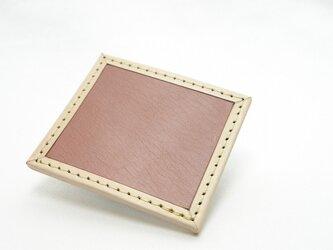 1枚タイルレザーマット 栃木レザー【ライトブラウン】の画像