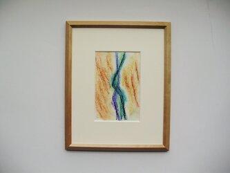 絵画 インテリア 額絵 パステル画 踊る人の画像