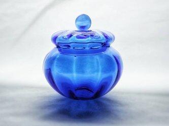 コバルトブルーのガラスキャニスターの画像