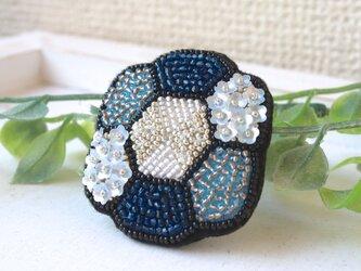 <再販>オートクチュール刺繍ブローチ お花のクロエの画像
