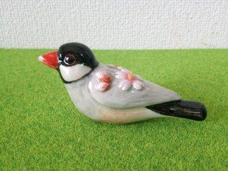 桜文鳥 花小鳥/大(陶器)の画像