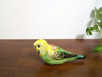花小鳥/大 セキセイインコ(陶器)の画像