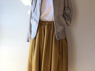 ウールコール天生地 ギャザースカートの画像