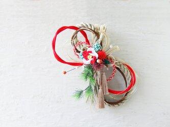 水引*お正月しめ飾り(コウハク)の画像