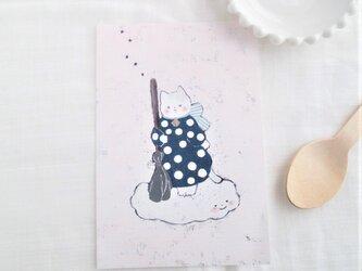 「ぶちと浮雲」ポストカード2枚セット 〇カードNO.1808の画像