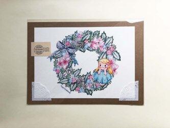 雪の妖精リース ポスターno.164の画像