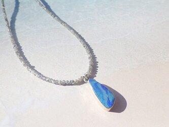 Grand Blue Ocean Opal Necklace ラブラドライト*sv925の画像