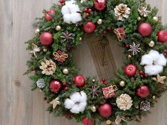 クリスマスリース(0718)~Santa's Magic Key(R)~ 35cmの画像
