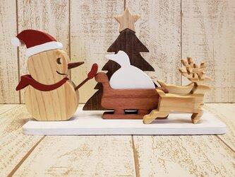 クリスマス☆スノーマンが遊ぶクリスマス飾り☆Christmas☆Xmas☆雪だるまの画像