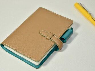【お好きな色で製作】イタリアンレザー ベルト留めほぼ日手帳カバー  A6サイズの画像
