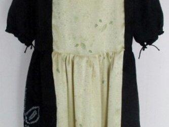 送料無料 絞り柄と地模様入りの着物で作ったチュニック 3870の画像