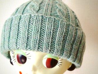 ふんわりやさしい差し色ニット帽【アイスミント】の画像