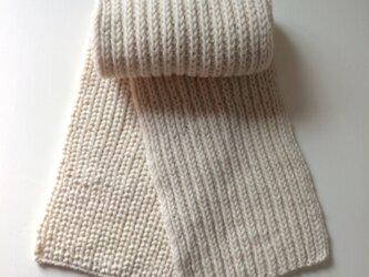 *イギリスゴム編みマフラーの画像