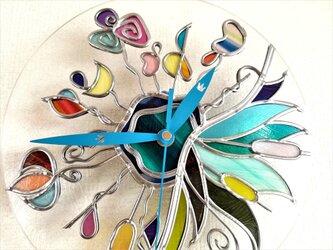 グラスアート時計『ティンカーベル』の画像