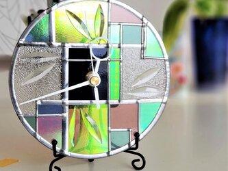 ベベルガラス 掛け/置き兼用時計『アールデコ』の画像