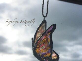琉球ガラスbutterfly*羽ばたきの画像