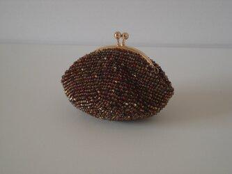 Beaded Purse --Bitter Chocolate--の画像