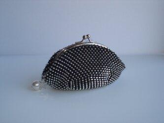 Beaded Purse --Snow Crystal-- [black]の画像