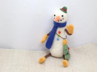 お出かけ雪だるまさんとツリーのオーナメント(2)の画像