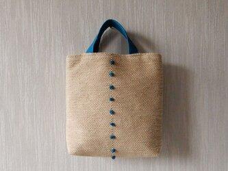裂き織りのおさんぽバッグ ミルクベージュの画像