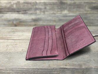 男の本革Slim長財布 --- 希少国産牛革ロロマ [プルーニャ]の画像