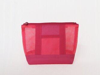 こちらはオーダー品です。メッシュポーチS(ピンク)の画像