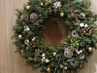 クリスマスリース(0818)~Santa's Magic Key(R)~ 29cmの画像