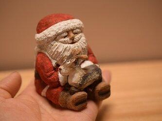 トナカイ抱っこサンタさん(売れました)の画像