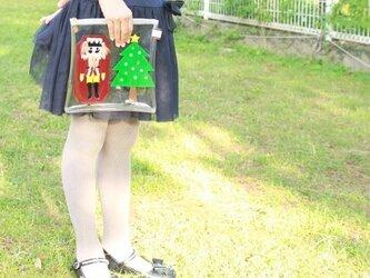 くるみ割り人形のクリアポーチの画像